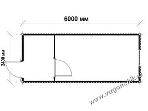планировка контейнера