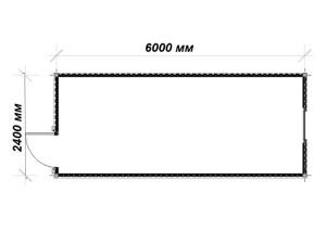 план-схема блок-контейнера БК-01