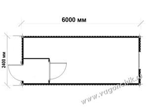 план-схема блок-контейнера БК-03