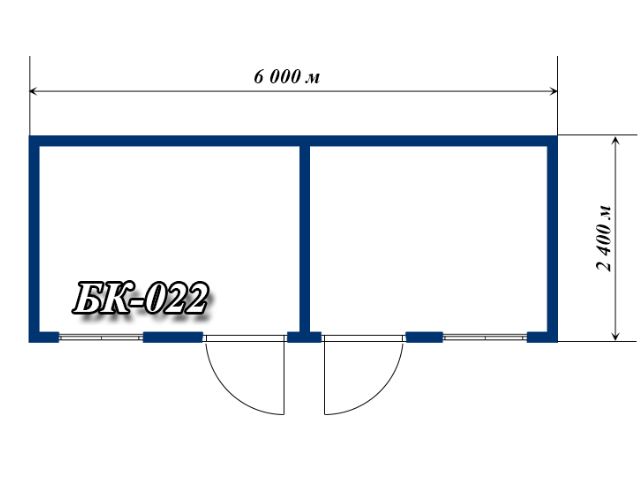 схема блок-контейнера 6х2,4