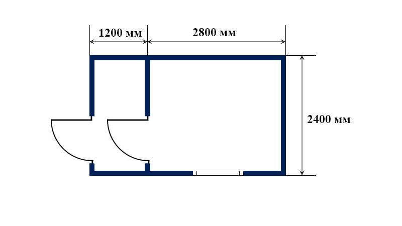 Коричневый блок контейне 4х2,4 м.