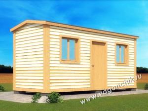деревянная бытовка 3х6