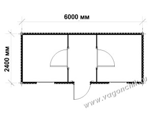 план-схема блок-контейнера ПроБК-02