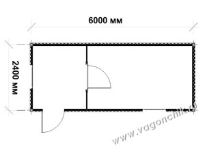 план-схема блок-контейнера БК-04