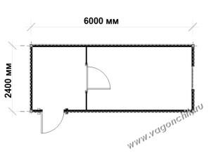 план блок-контейнера ПроБК-05