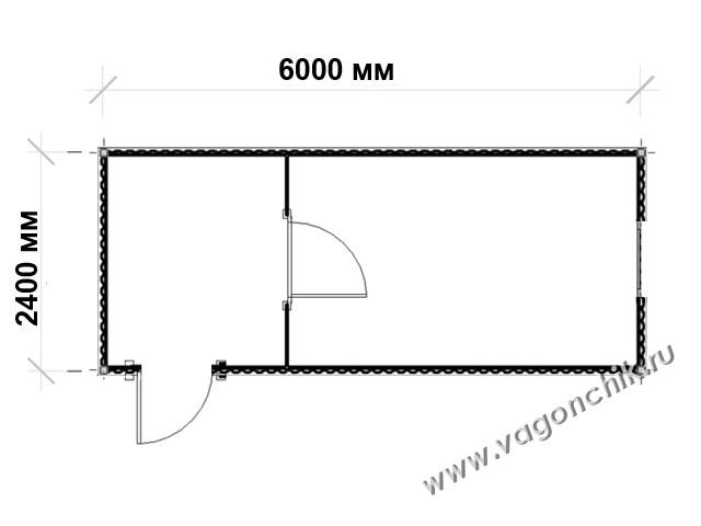 размеры бытовки на планировке
