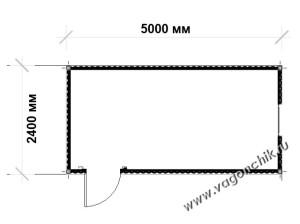 план строительной бытовки 5х2