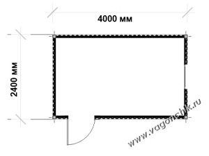 схема блок-контейнера 4х2,4