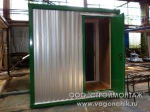 зеленый блок-контейнер