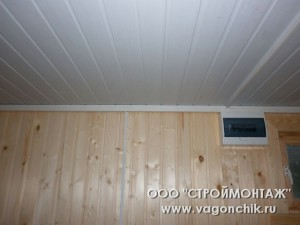 потолок и стена
