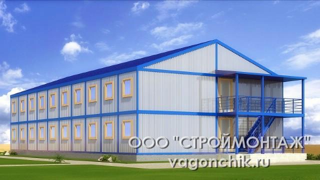 Модульное общежитие для строителей