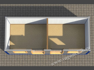Блок-контейнер БК-022 разрез