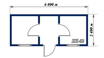 план-схема блок-контейнера БК-02