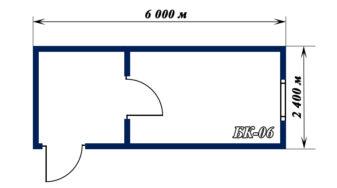 план блок-контейнера