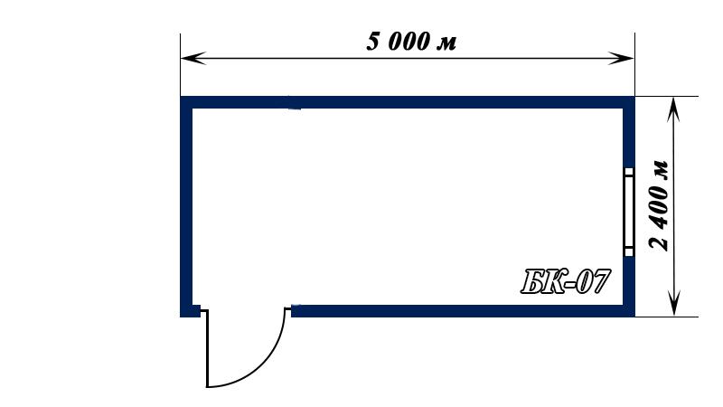 схема блок-контейнера 5х2,4