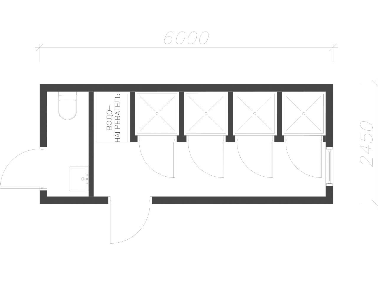 план-схема Сантехнический контейнер СанБК-10