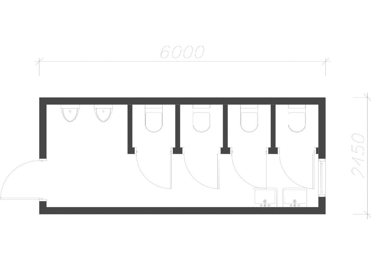 план-схема Блок контейнер туалет СанБК-11