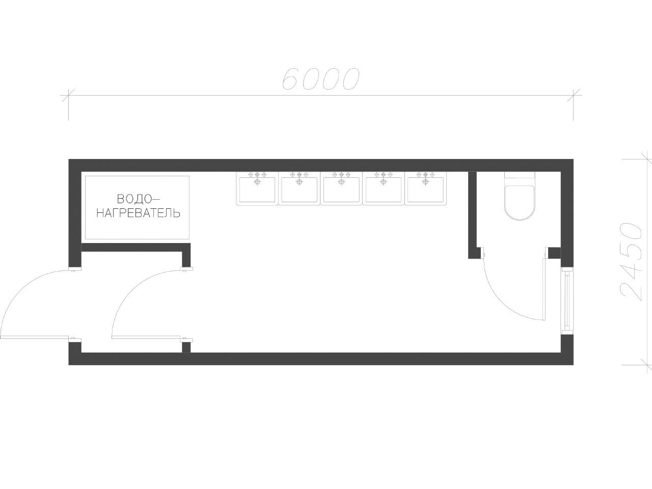 план-схема Сантехнический контейнер СанБК-12
