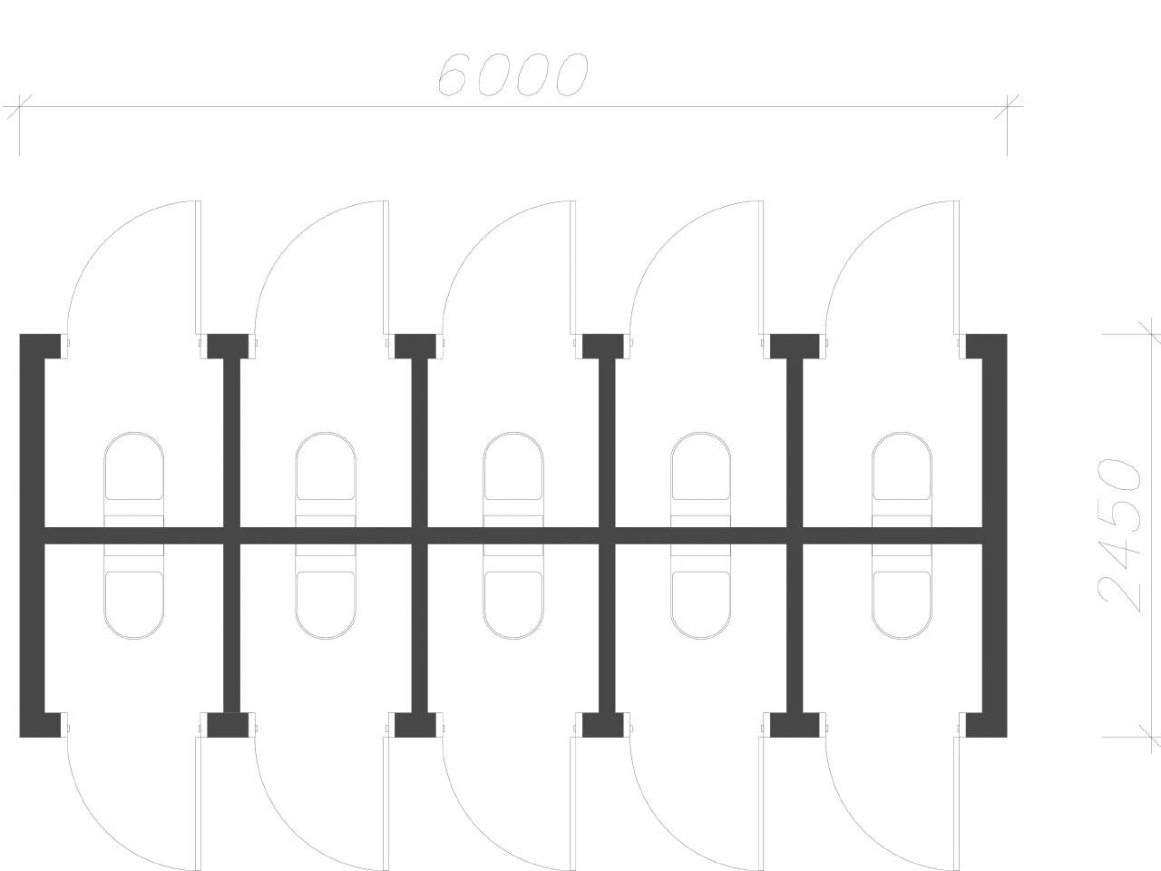 план-схема Блок контейнер туалет СанБК-13