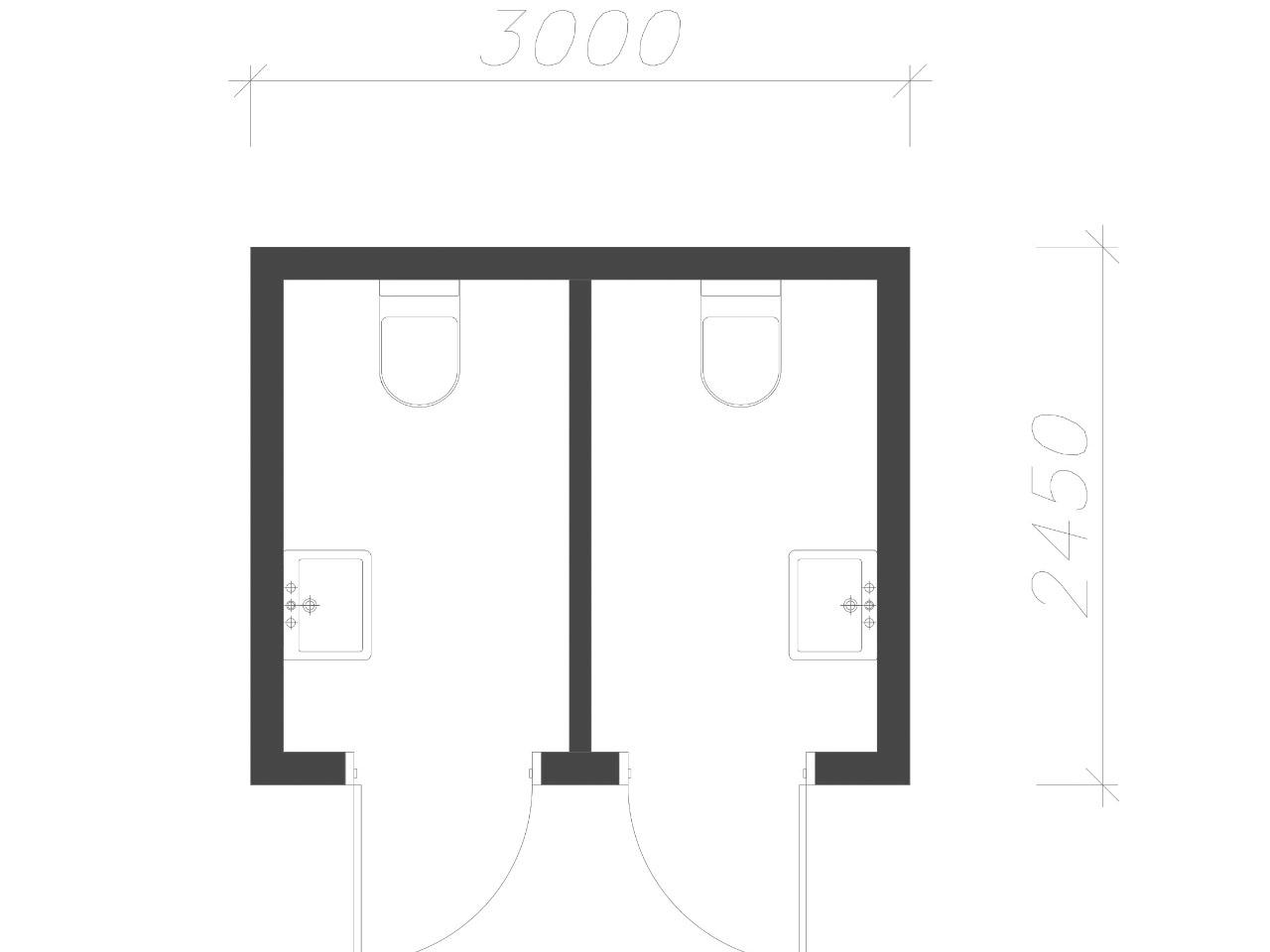 план-схема Сантехнический контейнер СанБК-14