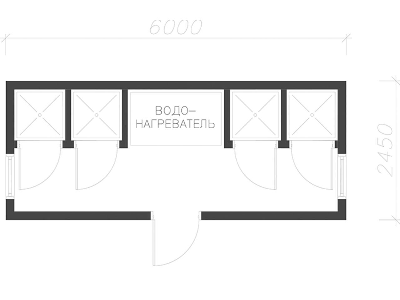 план-схема Блок контейнер СанБК-15