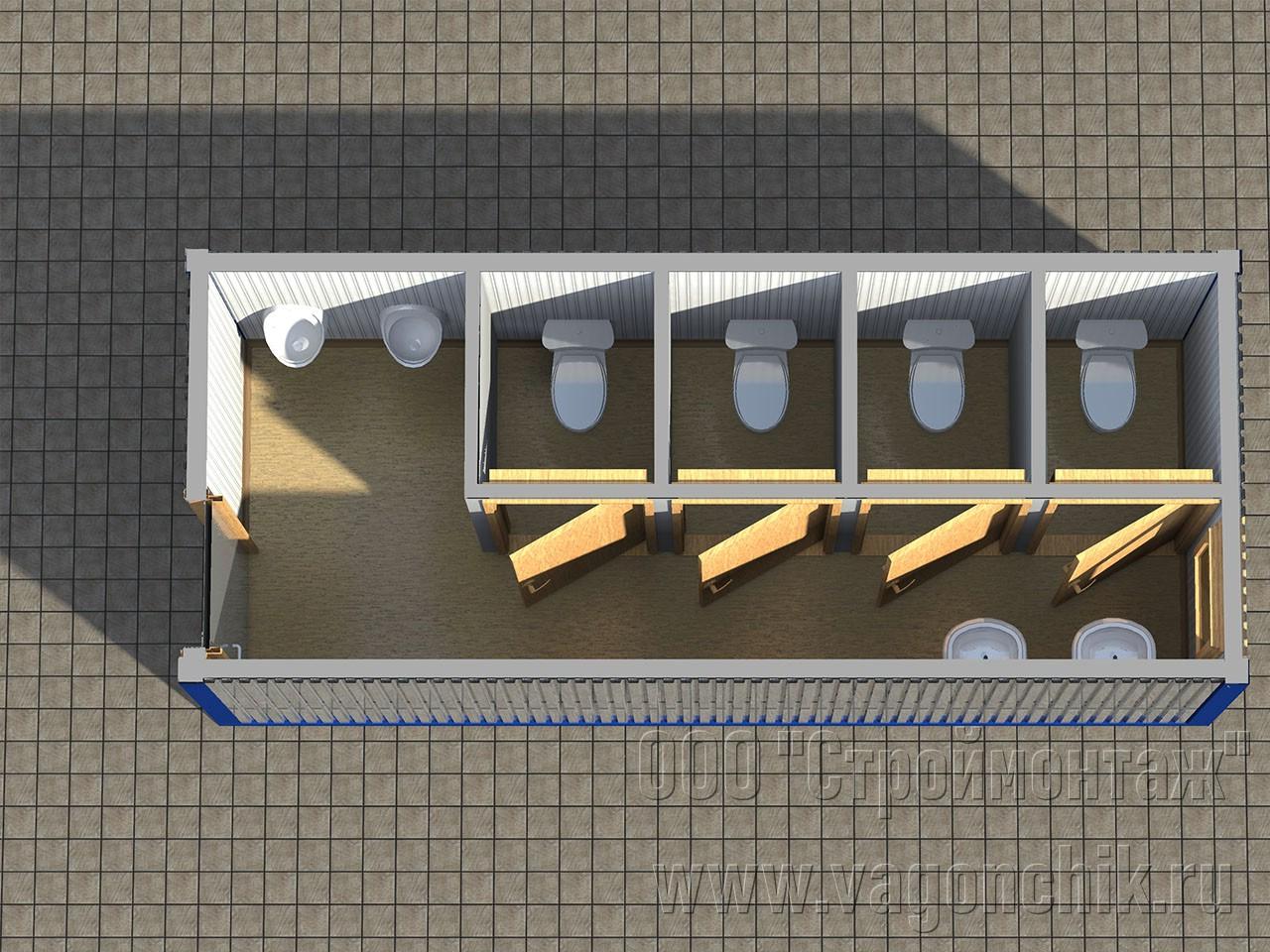 Блок контейнер туалет СанБК-11