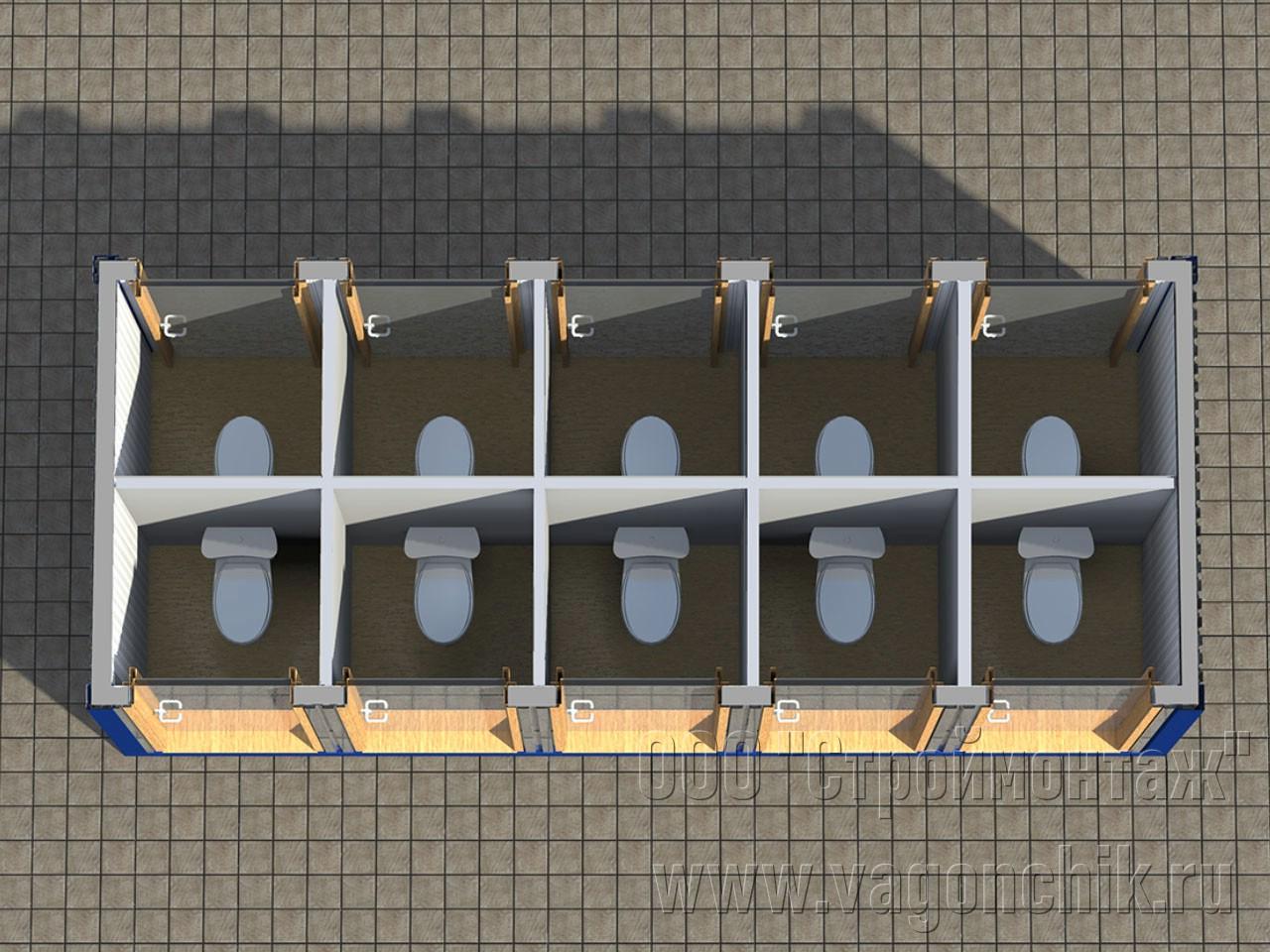 Блок контейнер туалет СанБК-13