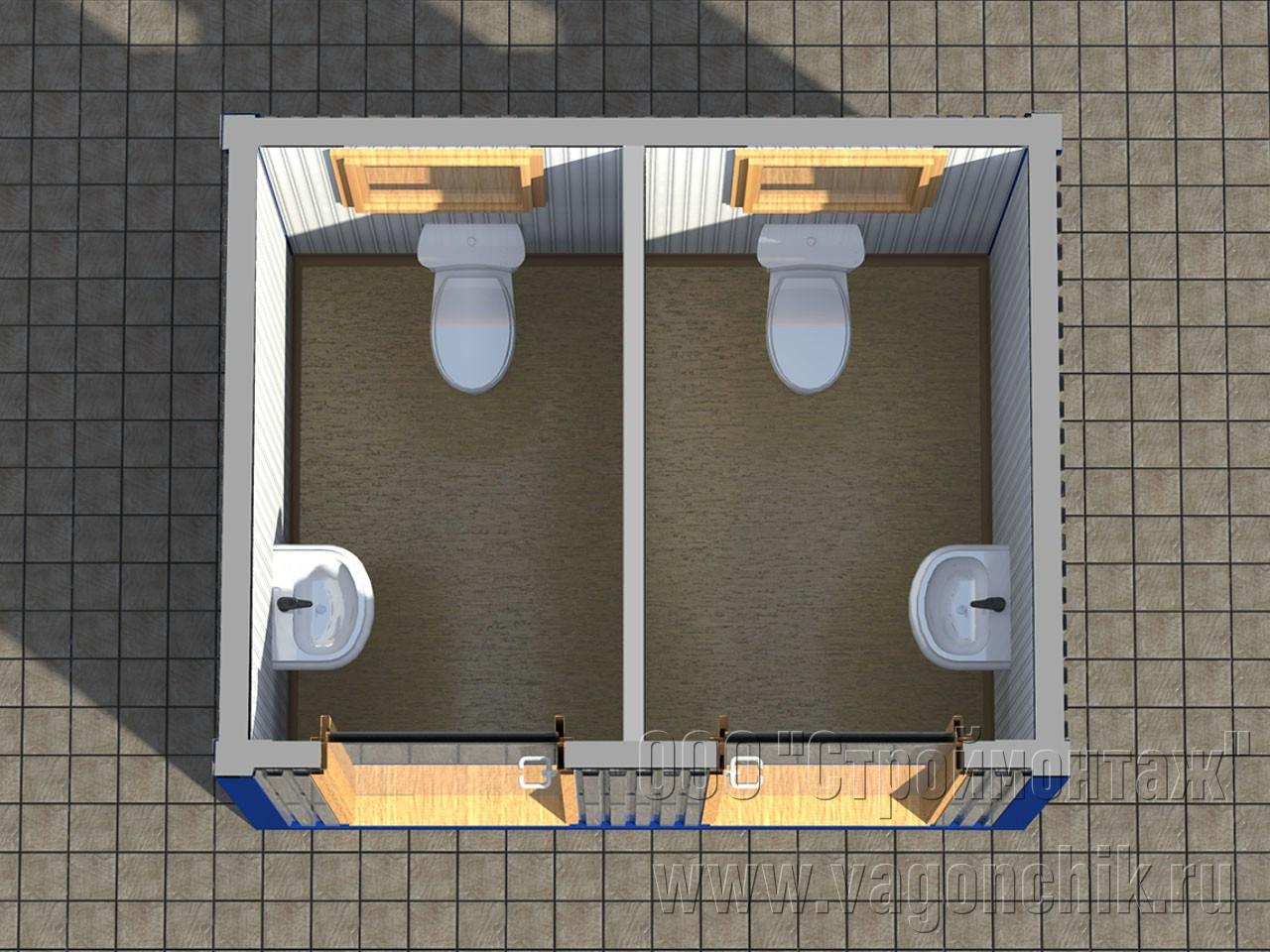 Сантехнический контейнер СанБК-14
