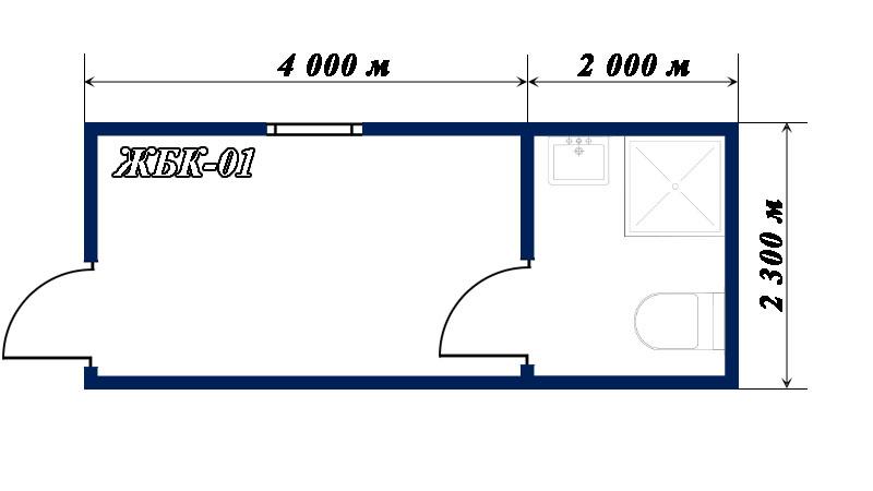 план-схема блок-контейнера ЖБК-01